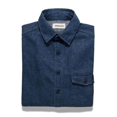 The Cash Shirt in Washed Selvage Denim