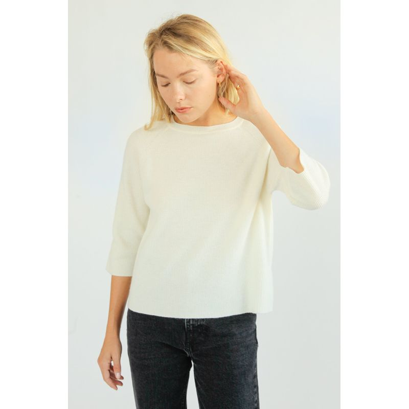Cashmere Blend Ribbed Knitwear
