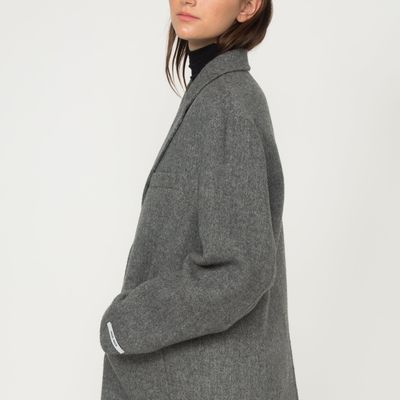 Wool Herringbone Overcoat