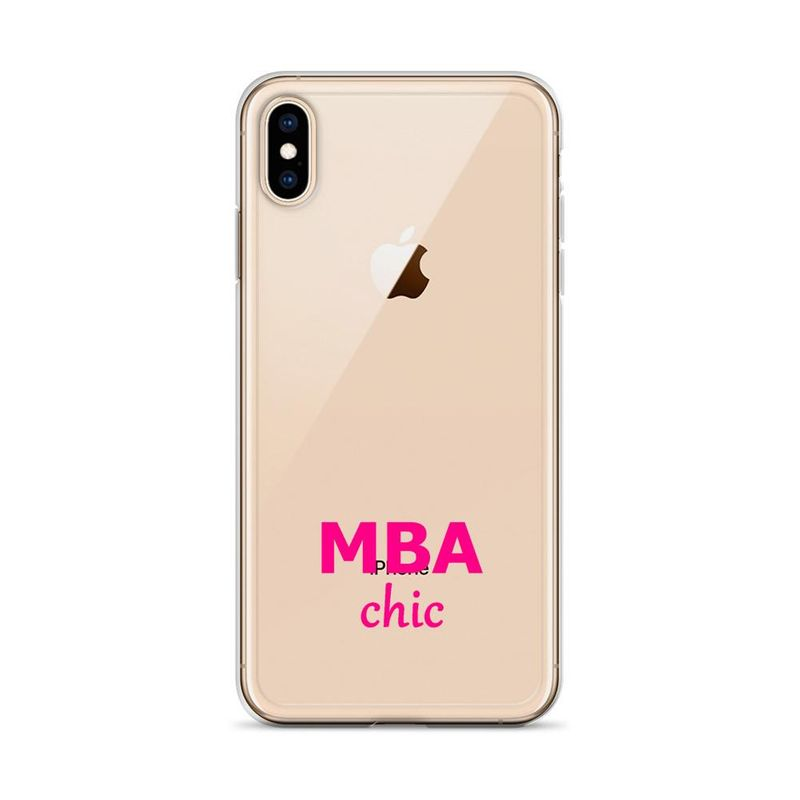 Clear MBAchic iPhone Case