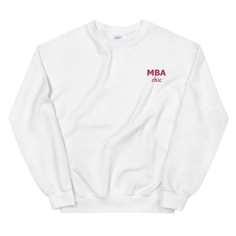 MBAchic Embroidered Logo Sweatshirt