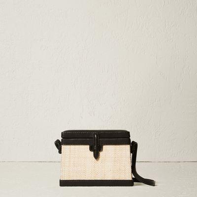 The Mini Square Trunk in Woven Platano