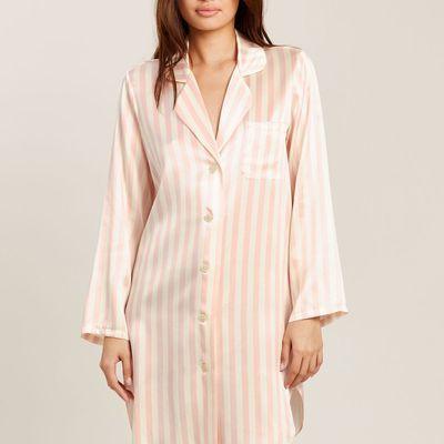 Jillian Night Shirt in Petal Stripe
