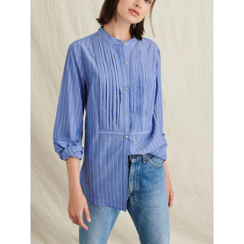 Tuxedo Shirt in Striped Cotton