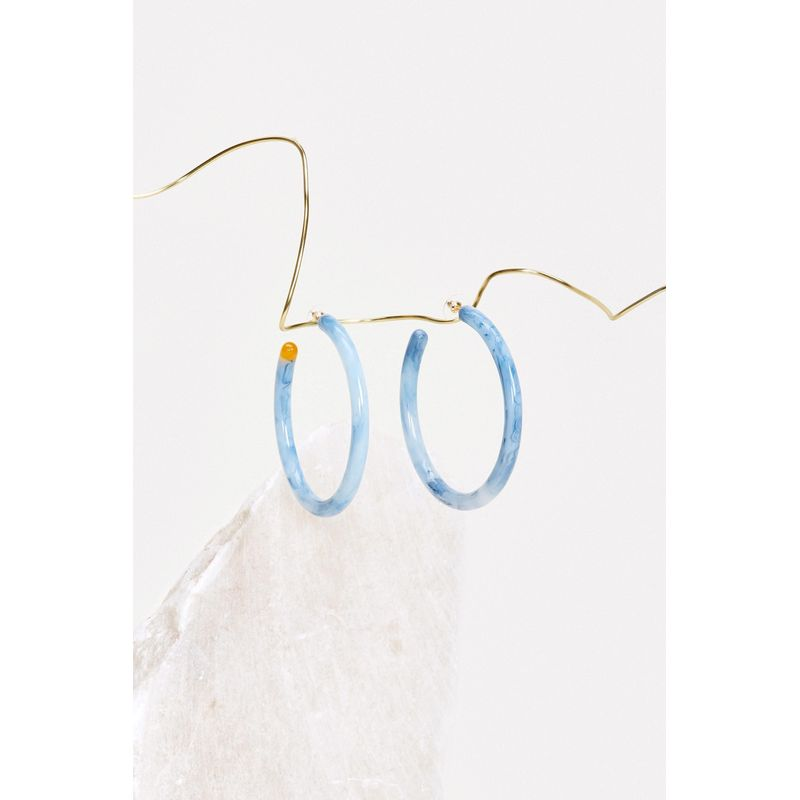 Geneva Earring - Opal Blue