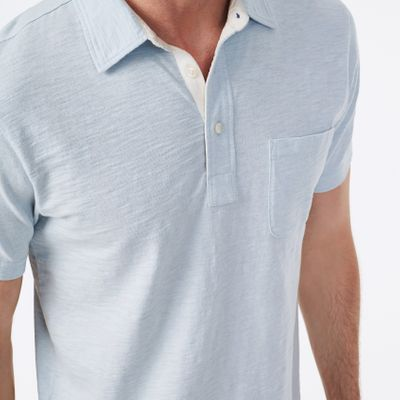 Bleecker Polo - Light Blue Heather