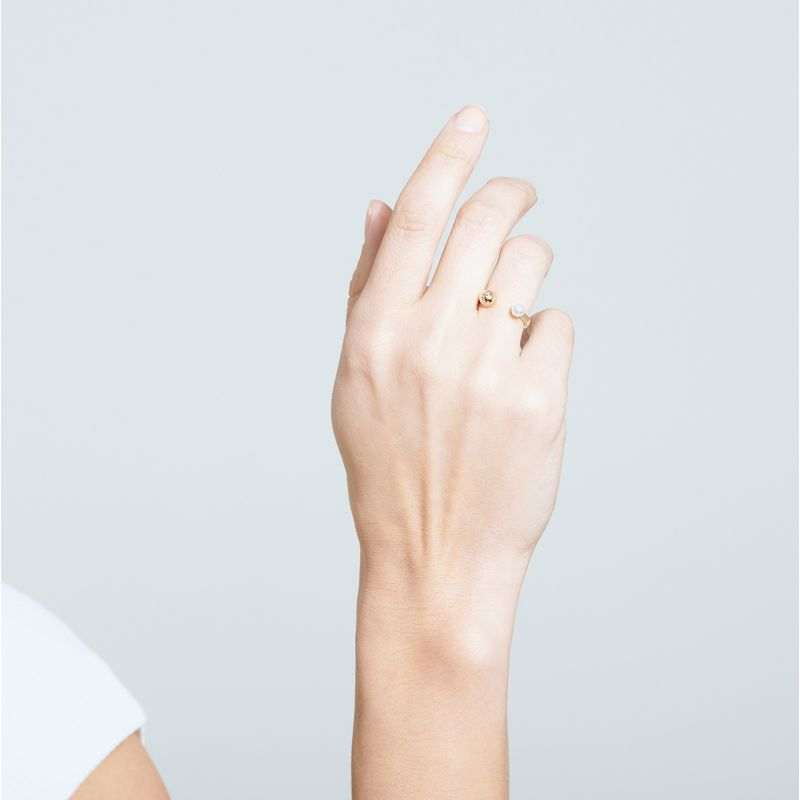 Asymmetric Pearl Ring