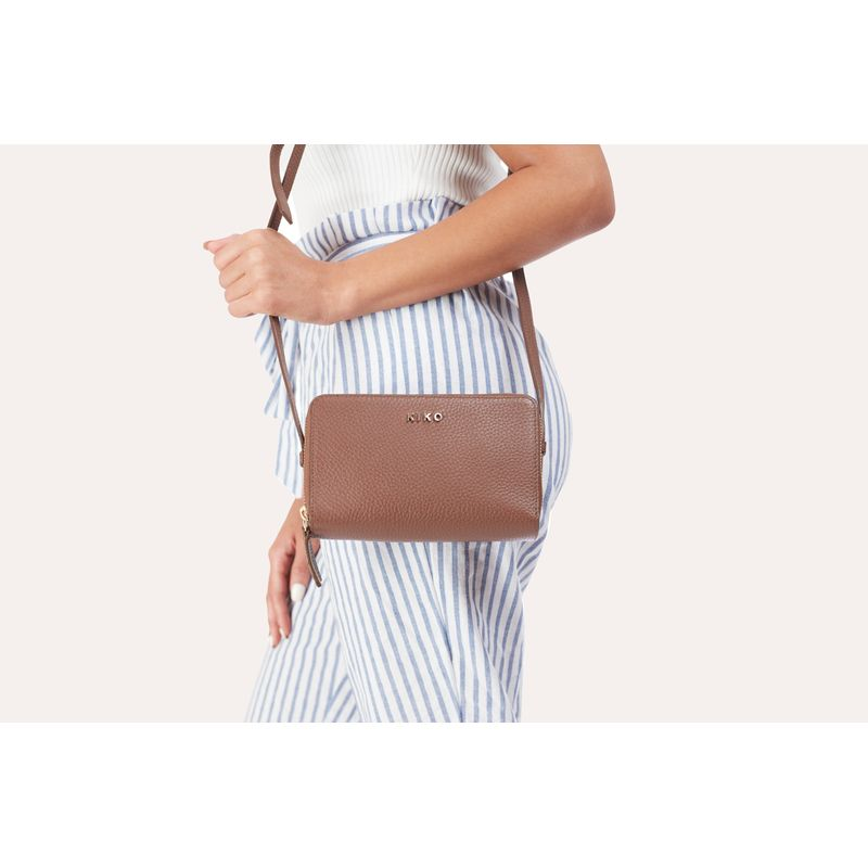 Zip Around Crossbody Pebble