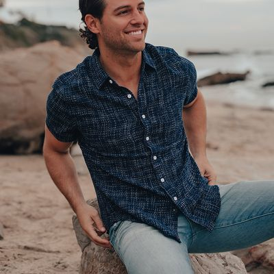 Ocean Short Sleeve Button Up Shirt
