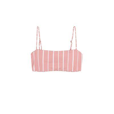 Bandeau Top (Pink White Stripe)