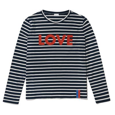 The Modern Long LOVE - Navy/Cream