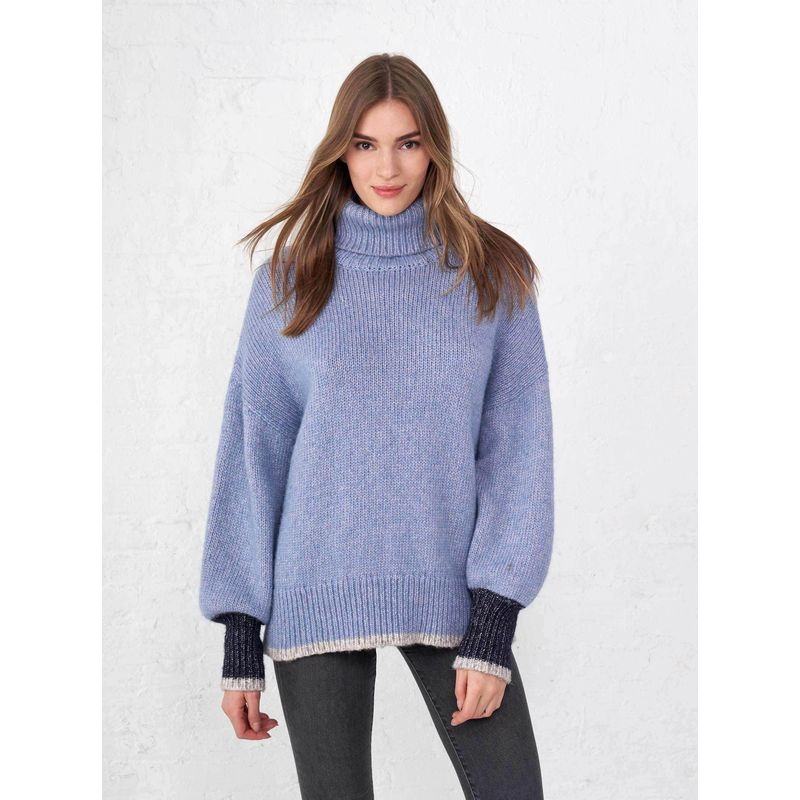 Big Blue Turtleneck