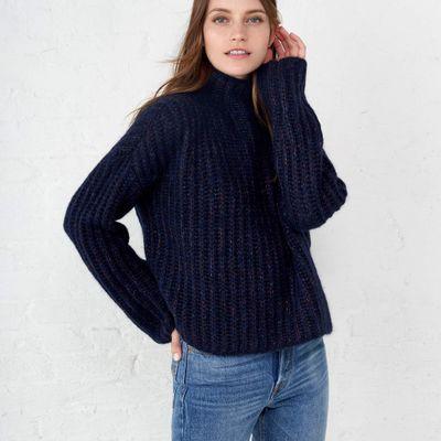 Fuzzy Wuzzy Funnel Neck Sweater