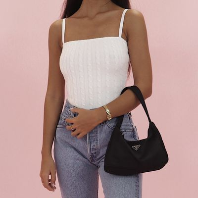 90s Cable Knit Bodysuit